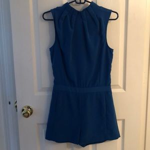 Ted Baker blue romper with neck detail